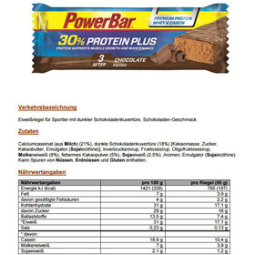 PowerBar ProteinPlus 30% Riegel Box Chocolate 15 x 55g